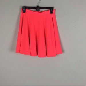 Topshop Skater Skirt Coral